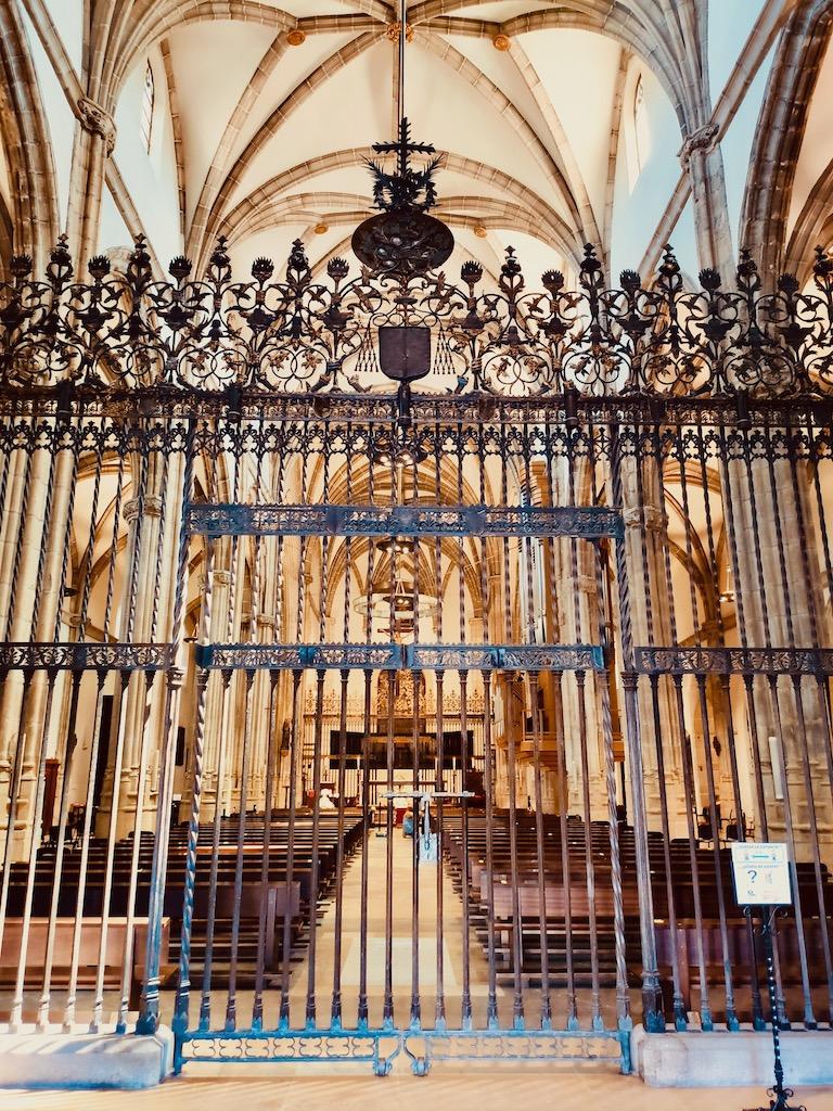 Alcala de Henares Catedral Magistral inside portail