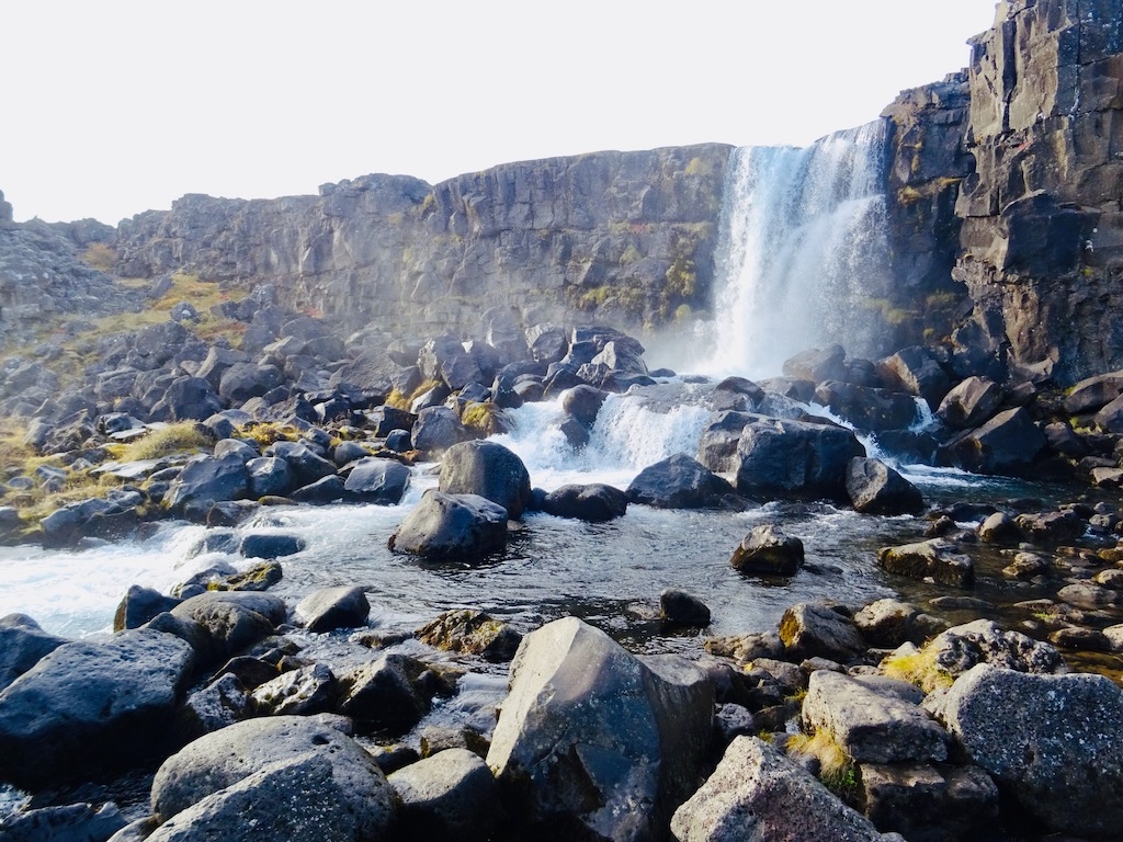 Oxarafoss Waterfall